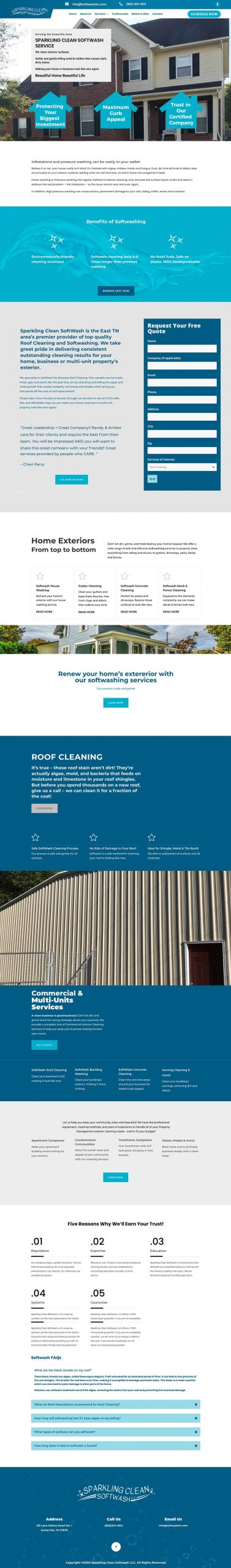 Sparkling Clean Softwash website scaled 1
