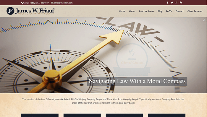 james friauf law website